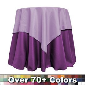 Promotional Non-Printed 45-inch Square Overlay Tablecloth