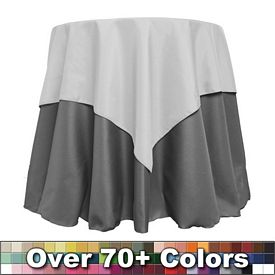 Customized Non-Printed 54-inch Overlay Square Tablecloth
