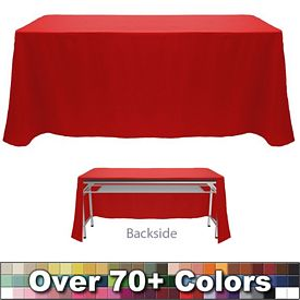 Promotional Non-Printed 8 Ft Throw Style Tablecloth - Open Back