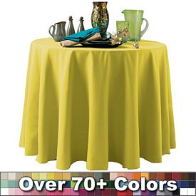 Promotional Non-Printed 90-inch Round Throw Style Tablecloth