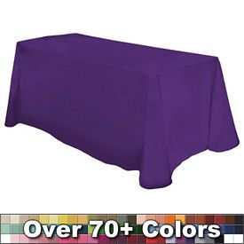 Customized Non-Printed 6 Ft Throw Style Tablecloth