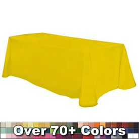 Promotional Non-Printed 8 Ft Throw Style Tablecloth