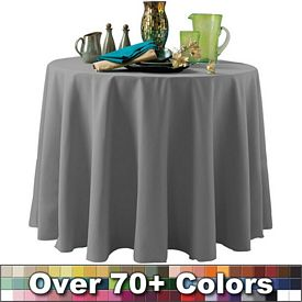 Promotional Non-Printed 96-inch Round Throw Style Tablecloth