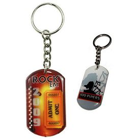 Promotional Zoogee Single Side Dog Tag Key Chain