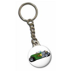 Promotional Zoogee Round Metal Back Key Chain