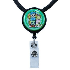 Promotional Zoogee Round Badge Reel Lanyard