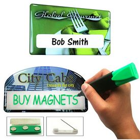 Promotional Zoogee Magnetic Write On Badge