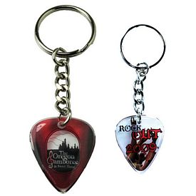 Promotional Zoogee Guitar Pick Key Chain